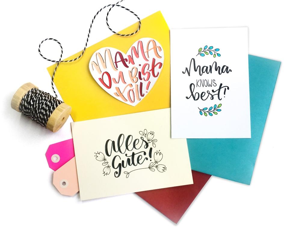 Banner Workshop Lettering, Handlettering, Brushlettering, Daun, Eifel, Rheinlandpfalz, Köln, Muttertag, Muttertagskarte